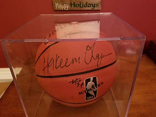 Hakeem Olajuwon Autographed Signed Autograph Basketball with Display Case Memorabilia JSA COA Nba