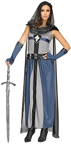 UHC Women's Lady Lionheart Outfit Medieval Knight Fancy Dress Halloween Costume, S/M (2-8)