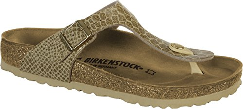 - Birkenstock Gizeh Womens Flip Flops Gold EU 41 - US L10 M8