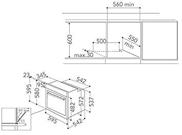 KitchenAid KOLCP 60600 - Horno (Medio, Horno eléctrico, 73 L, 73 L