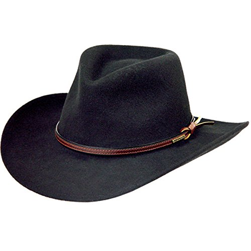 Stetson Men's Bozeman Wool Felt Crushable Cowboy Hat Black Large