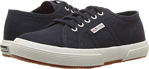 Superga Kids Unisex 2750 JCOT Classic (Toddler/Little Kid) Navy/White 31 M EU M (Superga Kids Classic Shoe)