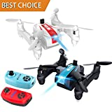 ZOWFUN Mini Drone Folding Mini Nano RC War Battle Drones 2.4G 4 Channel 6-Axis Infrared Emission RTF Quadcopter Drone with Headless Mode,3D Flip,One Key Return 2 PCS Toy Drones for Kid Adult Beginner
