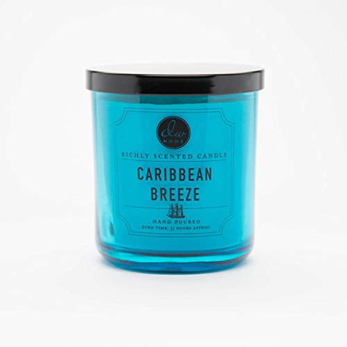dw home medium single wick candle caribbean breeze ebay. Black Bedroom Furniture Sets. Home Design Ideas