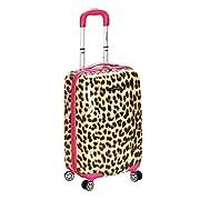 Rockland F191 Luggage Carry On Skin, Pink Leopard, Medium, 20-Inch