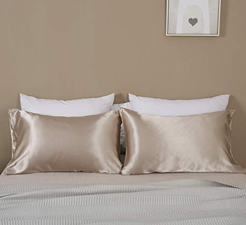 Omelas 2 Pack King Silk Satin Pillowcases For Hair King