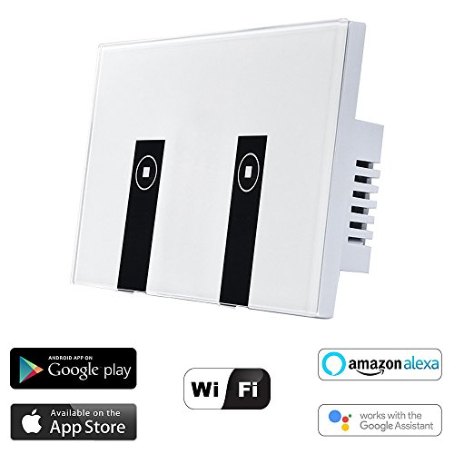 WiFi Smart Light Switch, HOSYO 2 Switches Touch...