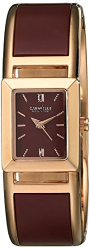 Ladies Bulova Two Tone Bangle Watch - Caravelle New York Women's 44L141 Analog Display Japanese Quartz Two Tone Watch
