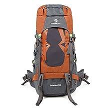60L professional mountain climbing camping hiking outdoor double shoulder bag rain cover