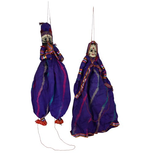 [Childrens puppets Rag dolls costumes Indian puppets with strings] (Costume Puppet Strings)