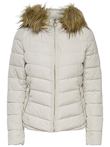 Otw Mujer Hood Ellan Jacket Only Pumice Chaqueta Onlnew Para Stone Fur Quilted wRHnWxfpq