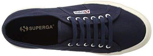 adulte Superga Navy Bleu Classic 2750 Baskets Cotu mixte WrqrXO64