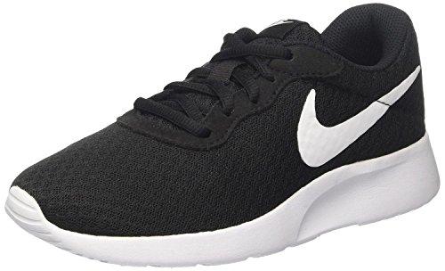 Nike Women's Tanjun Running Sneaker, Black/White 10 B(M) US