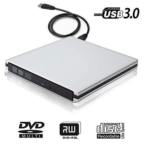 USB 3.0 External DVD CD Drive Burner,TENNBOO Portable CD/DVD-RW Burner Writer Player for Laptop Notebook PC Desktop Computer,High Speed Data Transfer Support Windows XP/Vista/7/8/2000,Mac OS