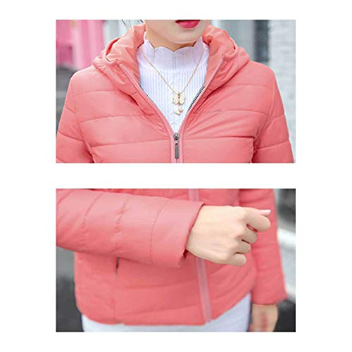 Hooded Jacket Jacket BOZEVON Short Plus Coat Womens Fashion Outerwear Down Red Size Outdoor xqxST76