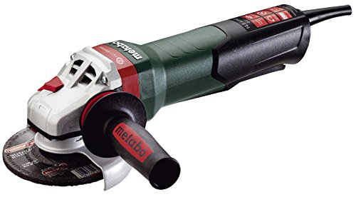 Metabo WEPBA17-125 Quick 14.5 Amp 11,000 rpm Angle Grinder with Brake, Auto-balancer, Electronics and Non-locking Paddle Switch, 5'' by Metabo