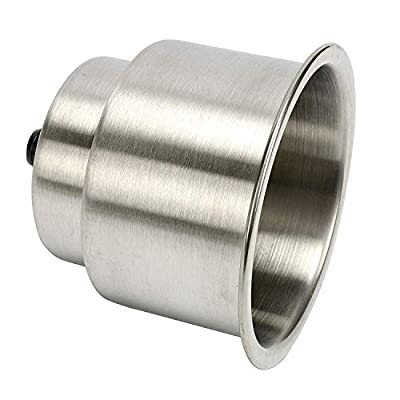 Amarine Made 5pcs Stainless Steel Cup Drink Holder with Drain Marine Boat Rv Camper: Automotive