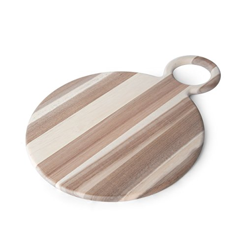 Pfaltzgraff 5222906 Round Acacia Wood Cheese Serving Board, 16
