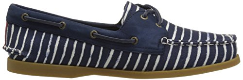 8 sider Navy A Sperry Stripe Top Wide Us Boat Shoe o Women's Indigo qCvw1BOv