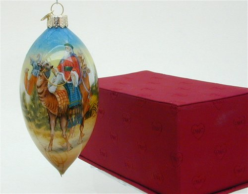 Wisemen Glass Ornaments - Old World Christmas We Three Kings Inside Art Ornament