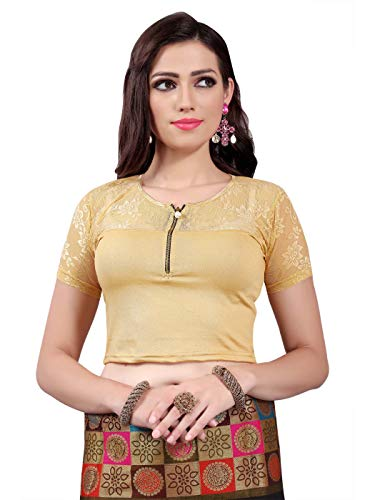 Readymade Stretchable Lycra Free Size Saree Blouse Women Crop Top ()
