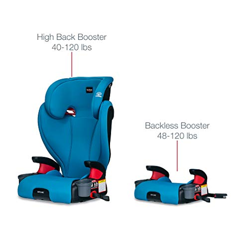 41VKk2VhdAL - Britax Skyline 2-Stage Belt-Positioning Booster Car Seat - Highback And Backless | 2 Layer Impact Protection - 40 To 120 Pounds, Teal