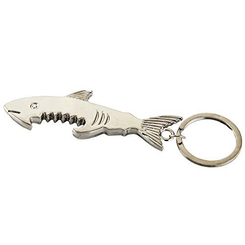 SWATOM Shark Fish Style Beer Bottle Cap Opener Keychain Accessories -