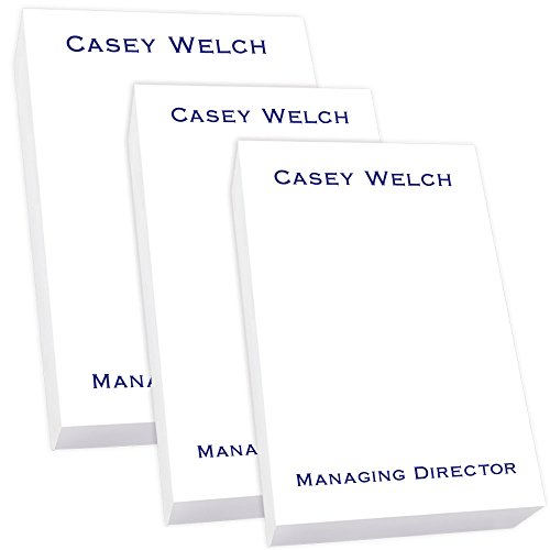 Noble Tablet Trio - White - Embossed Graphics Stationery