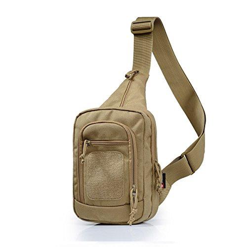 vAv YAKEDA Nylon Tactical Sling Bag Cross Body Gun Backpack Design for Handgun Move quickly-KF-083