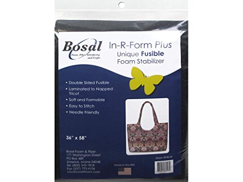 Bosal BSL493B-36 in R Form Foam Stabilizer Plus Fusible Double Sided Black, 36