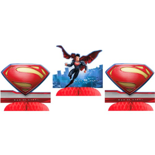 Superman Man of Steel Centerpieces (3ct)