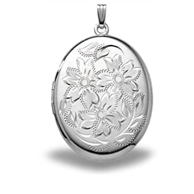 large sterling style silver extra lockets necklace victorian locket