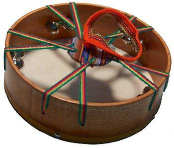 Tambourine with Goat Skin and Bells