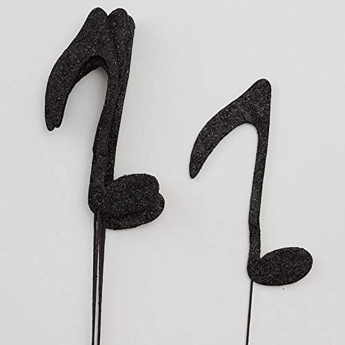 (Factory Direct Craft Glittered Eighth Note Floral Picks)