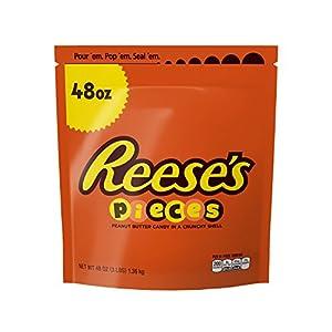 REESE'S Pieces Peanut Butter Candy, Halloween Candy, 48 Ounce Bulk Candy