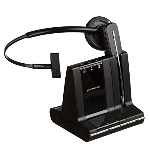 Plantronics Savi 740 Wireless Headset System for UC (Certified Refurbished) (Plantronics Replacement Headband)