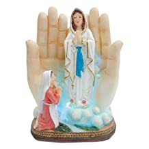 5.5 Inch Lady of Fatima with Light in Hand Statue Religious Decorative Light Saint Guadalupe Lamp Party Gift Home Decorative Children's Gift