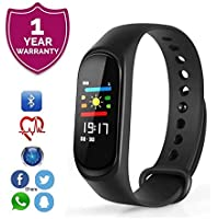 Forestone M3 Plus Waterproof Smart Band Heart Rate Monitor Fitness Activity Tracker with Calorie and Step Counter Pedometer Watch for Kids Women and Men Compatible with All Android and iOS Devices