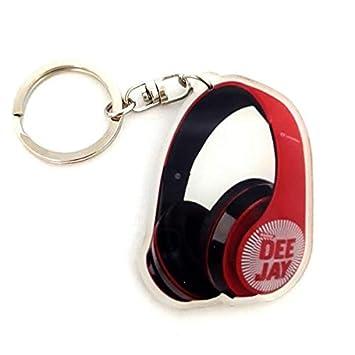Llavero de acrílico en forma de auriculares de DJ: Amazon.es ...
