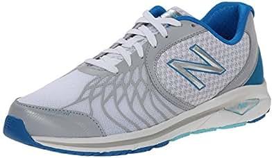 New Balance Women's WW1765V2 Walking Shoe, White/Blue, 6 D US