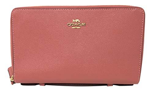 Coach Crossgrain Double Zip Travel Organizer Leather Wallet F23334 (Coach Travel Organizer)