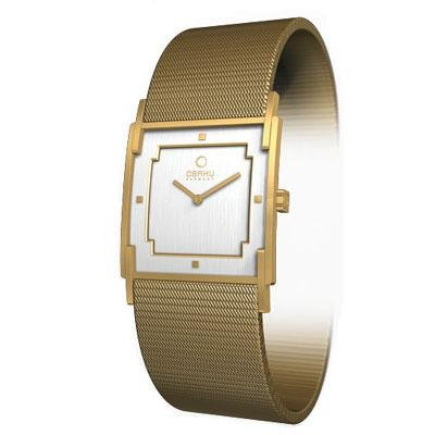Obaku Harmony Womens Watch - Gold Band / White Face - V105LGWMGS-040