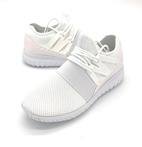 Blue Berry EASY21 Lady Breathable Fashion Slip-On Athletic Sports Shoes,White99, 8
