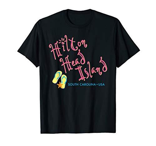 - Hilton Head South Carolina Flip Flop t-shirt