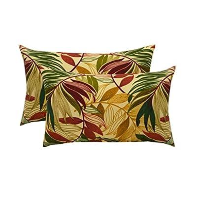 RSH Décor Set of 2 Indoor/Outdoor Lumbar Rectangular Throw Pillows (12