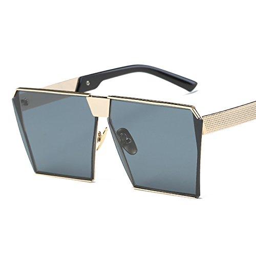 De Gafas De Gold de Moda Blue Gafas De dorado La de Sol Caja Frame De De ceniza Gafas Sol Gafas Mujer Hoja Sol Mercury JUNHONGZHANG marco De Color vaqxP