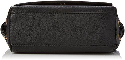 New Look Lace Coreset Side - Borse a tracolla Donna, Black, 11x17x25 cm (W x H L)