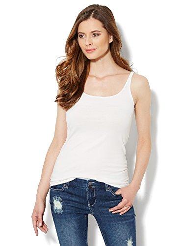 New York & CO. Women's Skinny Cotton Tank Top Small Paper (New York Womens Tank Top)