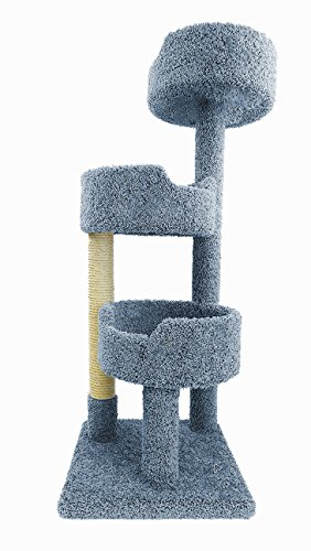 New Cat Condos Deluxe Kitty Pad, Blue (Blue Tower Cat)