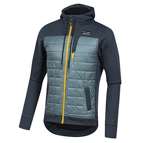 Pearl iZUMi Versa Quilted Hoodie, Midnight Navy/Arctic, Large